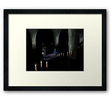 Christine in phantom's boat alone 1 Framed Print