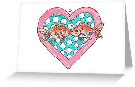 Goldfish In Love by David Webb