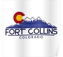 Fort Collins Colorado wood mountains Poster