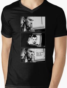 That picture makes me look like a sociopath. Mens V-Neck T-Shirt
