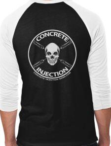 concrete injection skull logo Men's Baseball ¾ T-Shirt