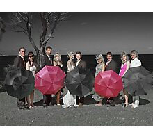 selective colouring - wedding Photographic Print