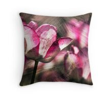 Red tulips.  Throw Pillow