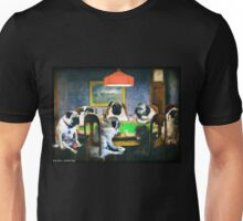 PUGS PLAYING POKER Unisex T-Shirt