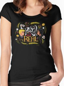 Real Or Not Real Women's Fitted Scoop T-Shirt