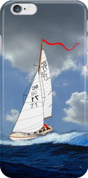 St Christopher (My Last Yacht) iPhone case by Dennis Melling
