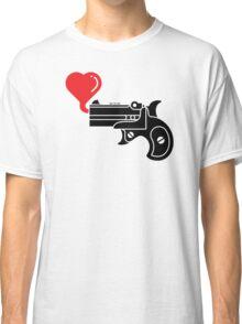 Pistol Blowing Heart Bubbles Classic T-Shirt