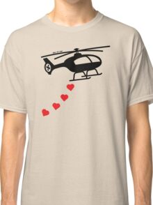 Army Helicopter Bombing Love Classic T-Shirt