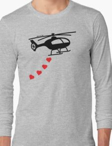 Army Helicopter Bombing Love Long Sleeve T-Shirt