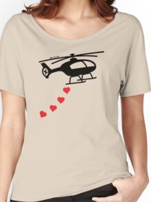 Army Helicopter Bombing Love Women's Relaxed Fit T-Shirt