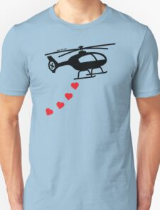 Army Helicopter Bombing Love T-Shirt