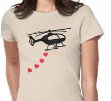 Army Helicopter Bombing Love Womens Fitted T-Shirt