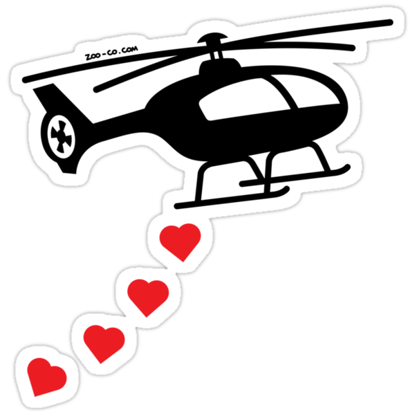 Army Helicopter Bombing Love by Zoo-co