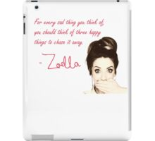 HAPPY THINGS quote ZOELLA iPad Case/Skin