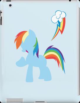 Simple Rainbow Dash iPhone/iPad Case by TehCrimzonColt