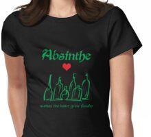 Absinthe Makes the Heart Grow Fonder Womens Fitted T-Shirt
