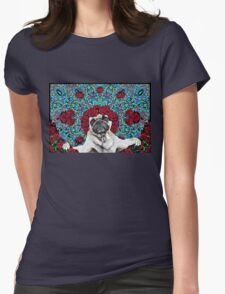 GRATEFUL PUG Womens Fitted T-Shirt