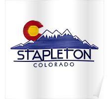 Stapleton Colorado wood mountains Poster
