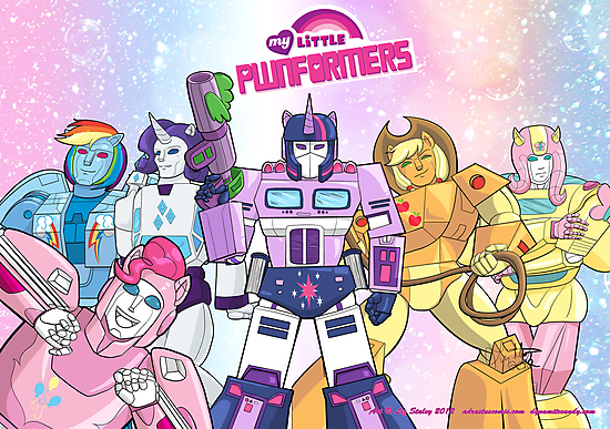 My Little Pwnformers Group by Liz Staley