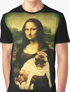 MONA LISA PUG Graphic T-Shirt
