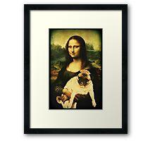 MONA LISA PUG Framed Print