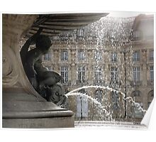 Bordeaux fountain Poster