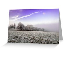 Freezing Fog Greeting Card