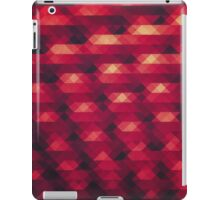 Abstract Color Pattern in Red iPad Case/Skin