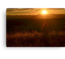 Twirling at Sunset Canvas Print
