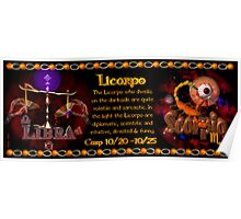 Valxart Licorpo for Libra Scorpio zodiac Cusp is approximately from dates October 16 to October 26 and is ruled by both Venus and Pluto with the elements of air and water.  Poster