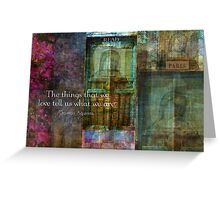 Thomas Aquinas Quote about FRIENDSHIP Greeting Card