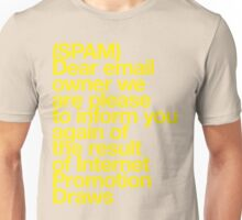 (Spam) Internet promotion draws! (Yellow type) Unisex T-Shirt