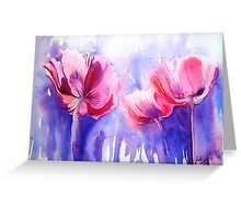Pink Poppy Explosion Greeting Card