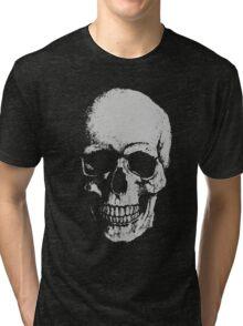 Skull Tshirt - SEMI TRANSPARENT Tri-blend T-Shirt