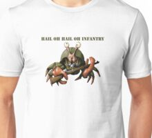 Crab infantryman ready for combat action Unisex T-Shirt