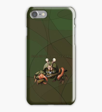 Crab infantryman ready for combat action iPhone Case/Skin