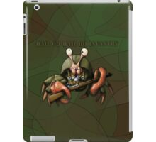Crab infantryman ready for combat action iPad Case/Skin