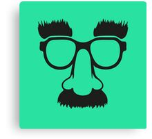 Groucho mask - nerd glasses Canvas Print