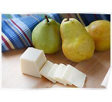 Sliced Cheese and Bartlett Pears Poster