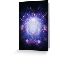 Abstract colossal space Sign! Greeting Card