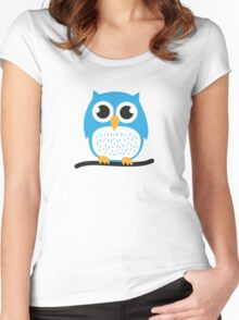 Sweet & cute owl Women's Fitted Scoop T-Shirt
