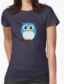 Sweet & cute owl Womens Fitted T-Shirt