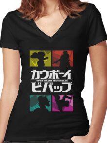 Melee Bebop Women's Fitted V-Neck T-Shirt