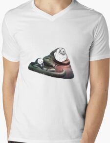 Jabba Alone Mens V-Neck T-Shirt