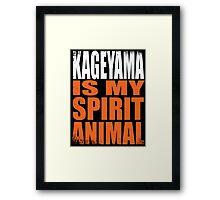 Kageyama is my Spirit Animal Framed Print