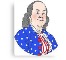 The Founding Bros: Ben Franklin Canvas Print