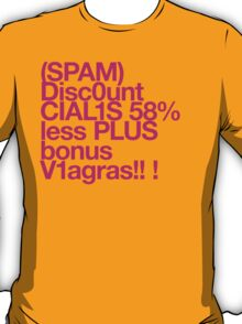 (Spam) Discount Cialis! (Magenta type) T-Shirt