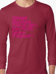 (Spam) Discount Cialis! (Magenta type) Long Sleeve T-Shirt