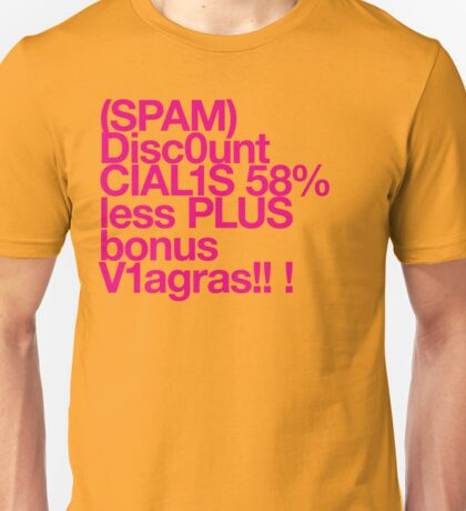 (Spam) Discount Cialis! (Magenta type) Unisex T-Shirt