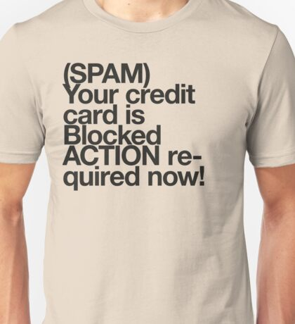 (Spam) Blocked! (Black type) Unisex T-Shirt